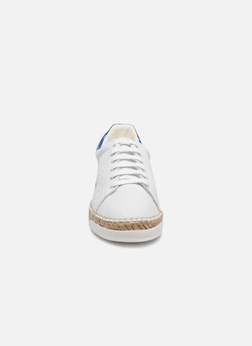 Baskets Canal St Martin LANCRY PE18 Blanc vue portées chaussures