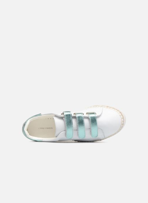 Trainers Canal St Martin LANCRY SCRATCH White view from the left