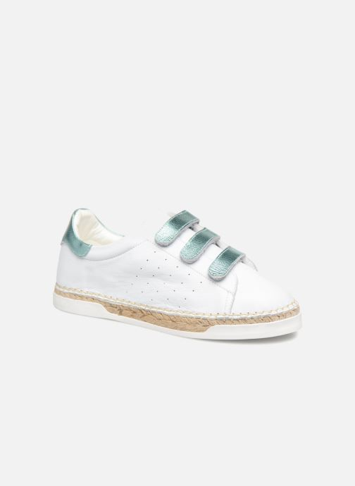 Trainers Canal St Martin LANCRY SCRATCH White detailed view/ Pair view