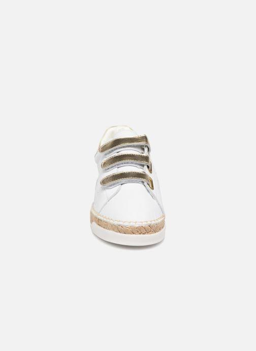 Baskets Canal St Martin LANCRY SCRATCH Blanc vue portées chaussures