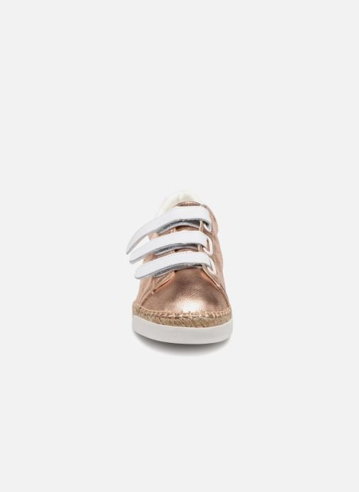 Baskets Canal St Martin LANCRY SCRATCH Rose vue portées chaussures