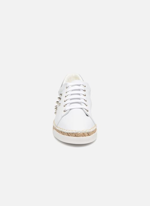 Baskets Canal St Martin LANCRY STUDS Blanc vue portées chaussures