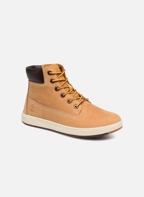 Bottines et boots Timberland Davis Square 6 Inch Boot Marron vue détail/paire