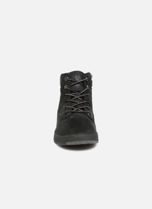 Stivaletti e tronchetti Timberland Davis Square 6 Inch Boot Nero modello indossato