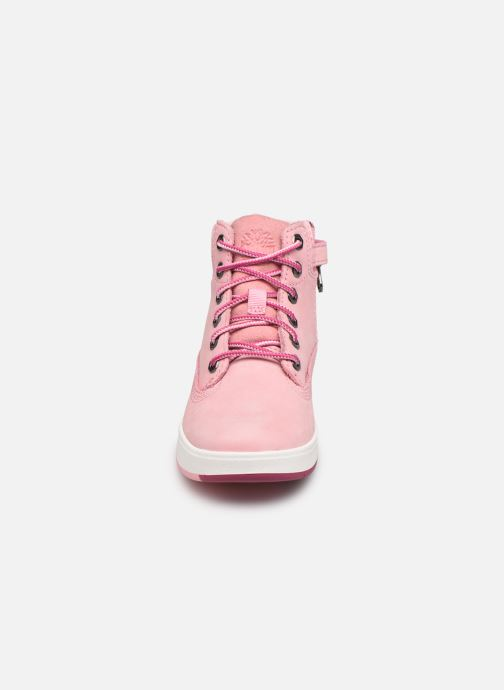 Bottines et boots Timberland Davis Square 6 Inch Boot Rose vue portées chaussures
