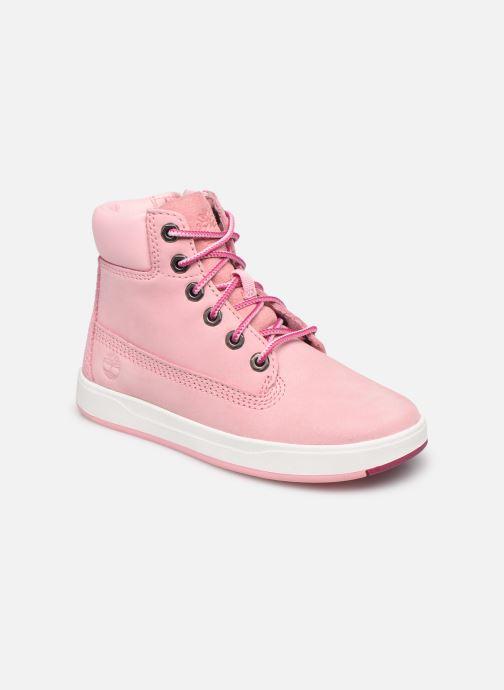 Stiefeletten & Boots Timberland Davis Square 6 Inch Boot rosa detaillierte ansicht/modell