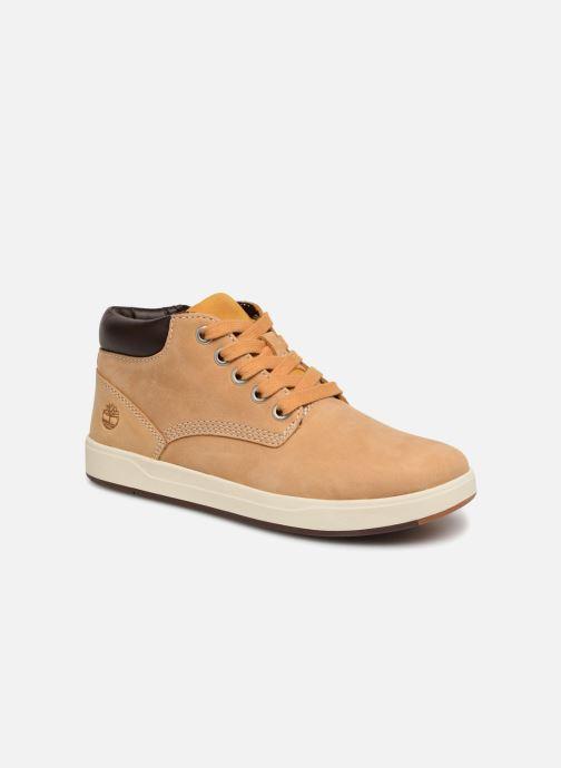 Bottines et boots Timberland Davis Square Leather Chk Marron vue détail/paire