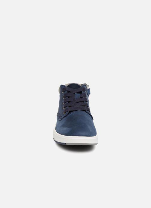Bottines et boots Timberland Davis Square Leather Chk Bleu vue portées chaussures