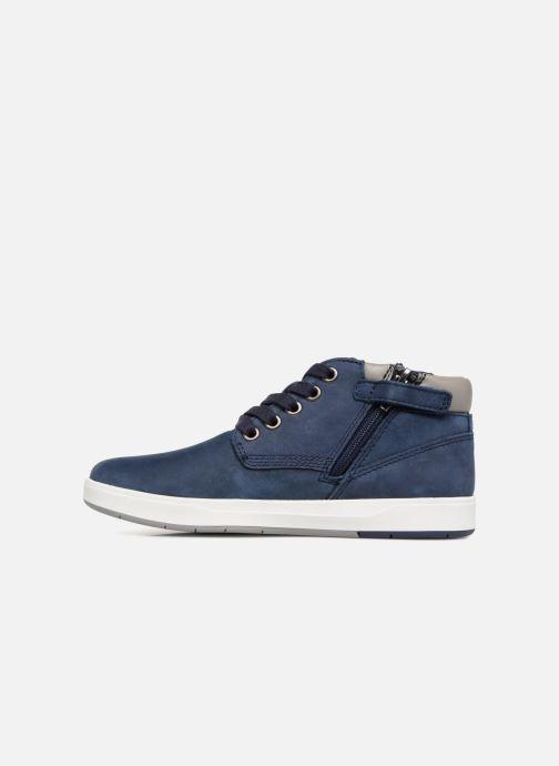 Bottines et boots Timberland Davis Square Leather Chk Bleu vue face