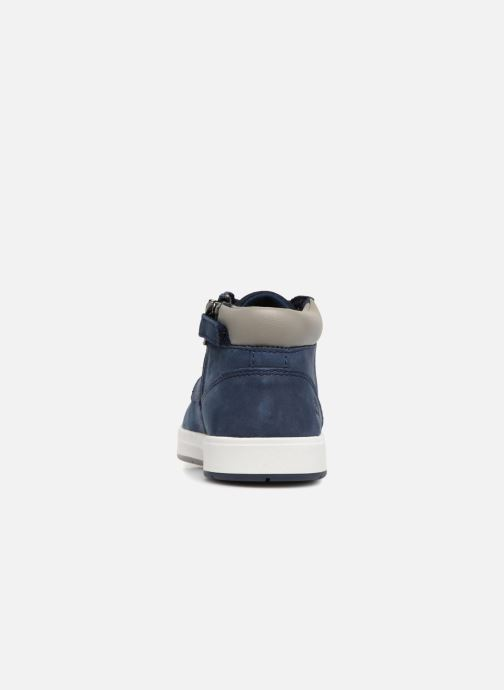 Bottines et boots Timberland Davis Square Leather Chk Bleu vue droite
