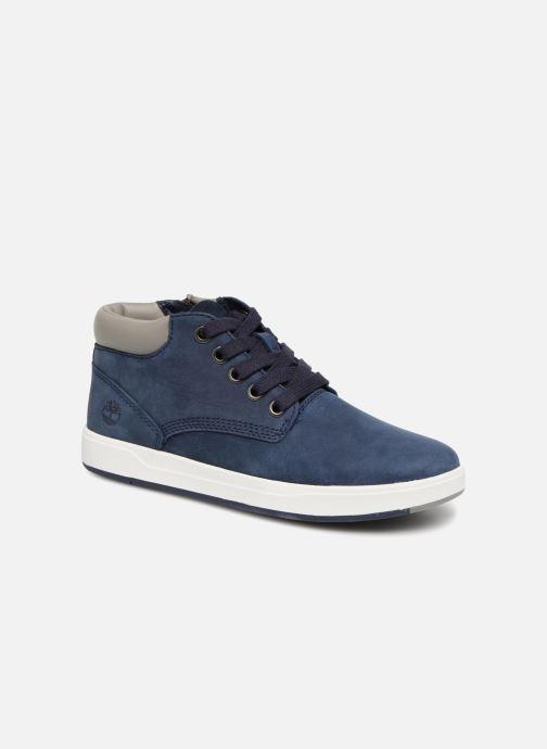 Bottines et boots Timberland Davis Square Leather Chk Bleu vue détail/paire