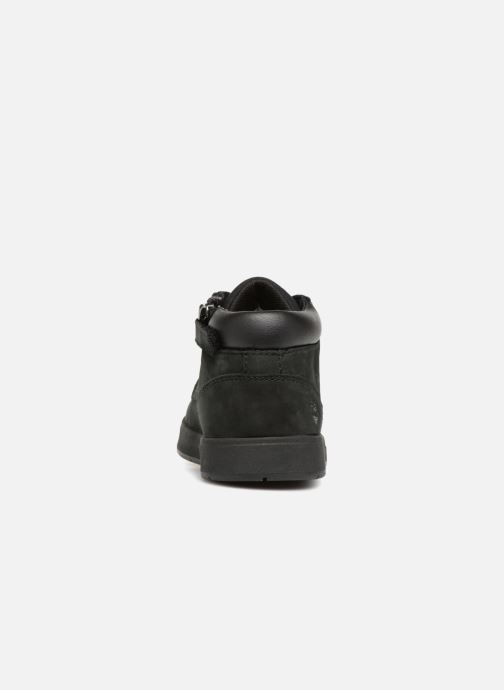 Ankle boots Timberland Davis Square Leather Chk Black view from the right