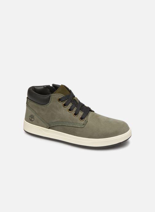 Bottines et boots Timberland Davis Square Leather Chk Vert vue détail/paire
