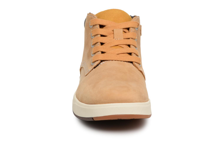 Bottines et boots Timberland Davis Square Leather Chk Marron vue portées chaussures