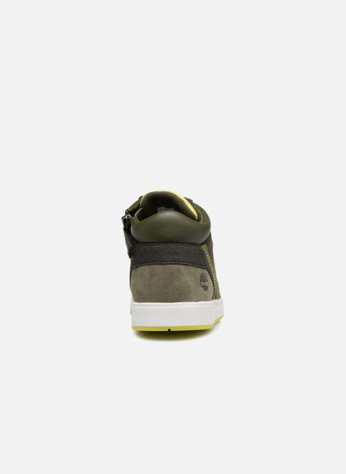 Baskets Timberland Davis Square Leather Chukka Zip Vert vue droite
