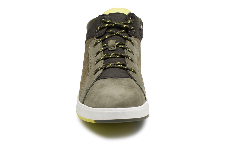 Baskets Timberland Davis Square Leather Chukka Zip Vert vue portées chaussures