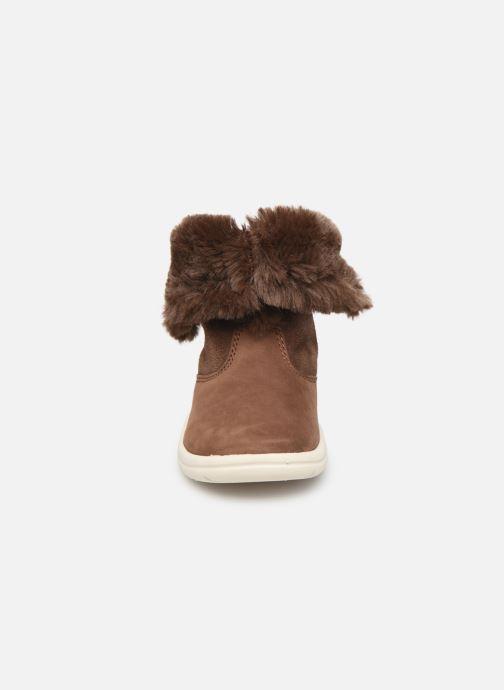 Stiefel Timberland Toddle Tracks Bootie braun schuhe getragen