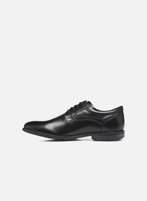 Lace-up shoes Rockport Dustyn Plain Toe Black front view