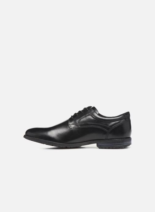 Zapatos con cordones Rockport Dustyn Plain Toe Negro vista de frente