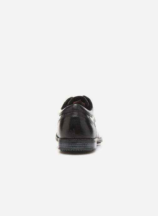 Zapatos con cordones Rockport Dustyn Plain Toe Negro vista lateral derecha