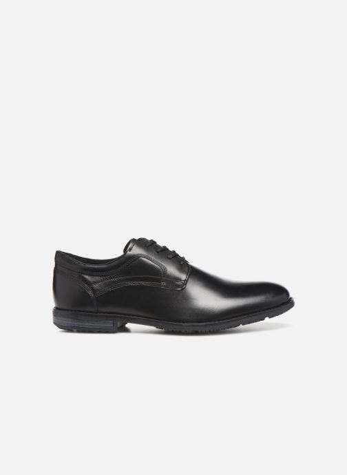 Lace-up shoes Rockport Dustyn Plain Toe Black back view