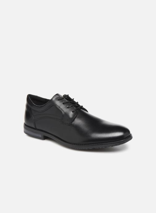 Lace-up shoes Rockport Dustyn Plain Toe Black detailed view/ Pair view
