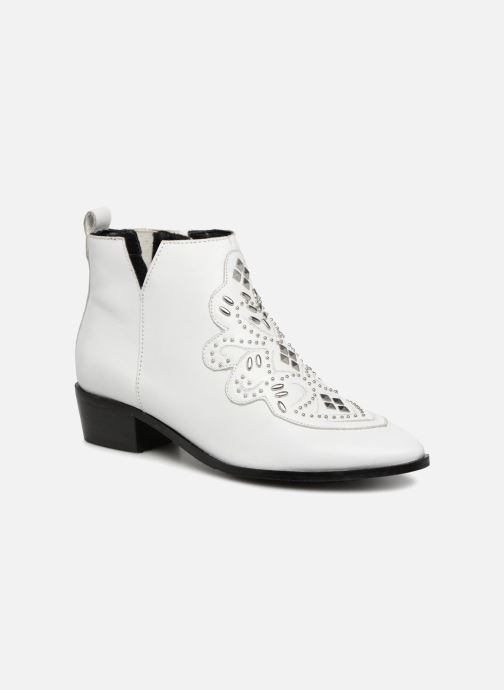 Ankle boots Bronx Btex-Chunky 47036 White detailed view/ Pair view