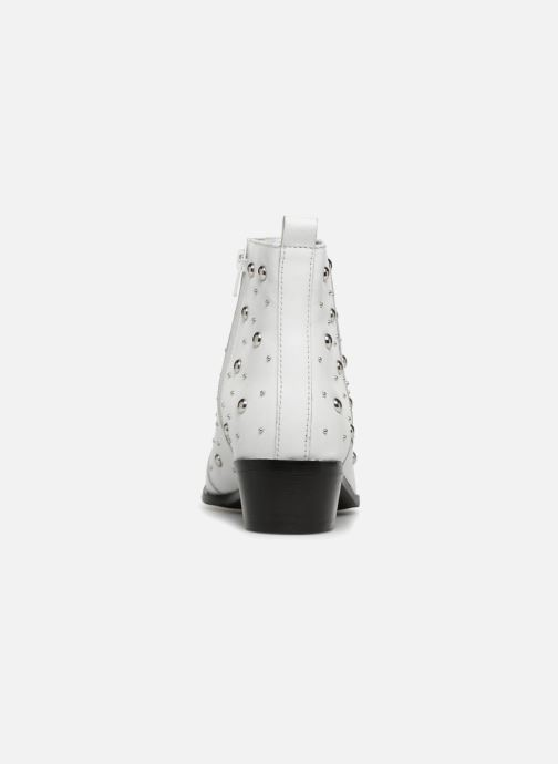 Ankle boots Bronx Btex-chunky 47062 White view from the right
