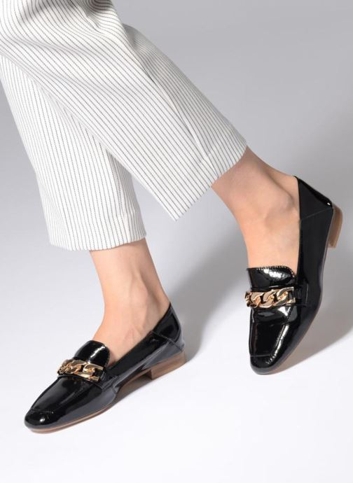 Loafers Bronx Bcerylx 66065 Black view from underneath / model view