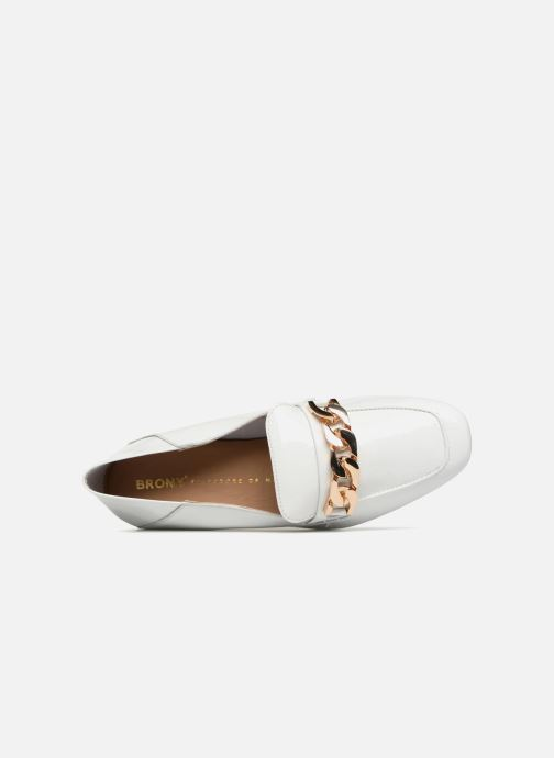 Loafers Bronx Bcerylx 66065 White view from the left