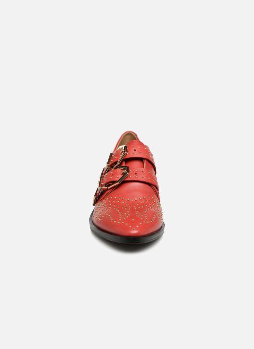 Mocassins Bronx Btex-chunky 66077 Rouge vue portées chaussures
