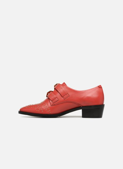 Mocassins Bronx Btex-chunky 66077 Rouge vue face