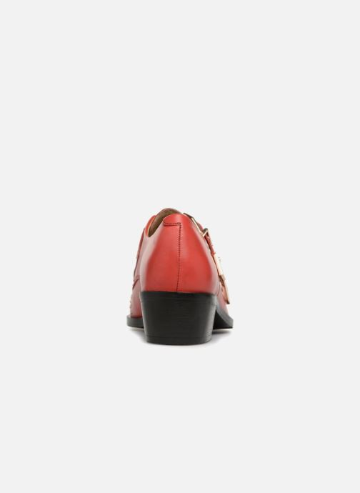 Mocassins Bronx Btex-chunky 66077 Rouge vue droite
