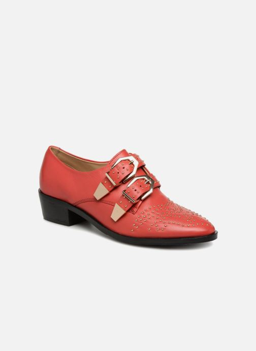 Loafers Bronx Btex-chunky 66077 Red detailed view/ Pair view