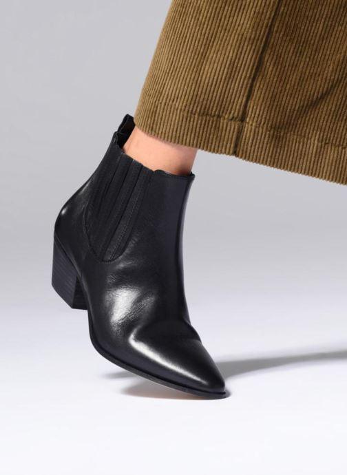 Bottines et boots Made by SARENZA Toundra Girl Bottines à Talons #13 Noir vue bas / vue portée sac