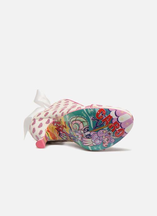 Zapatos de tacón Irregular choice LOVE IS IN THE AIR Blanco vista de arriba