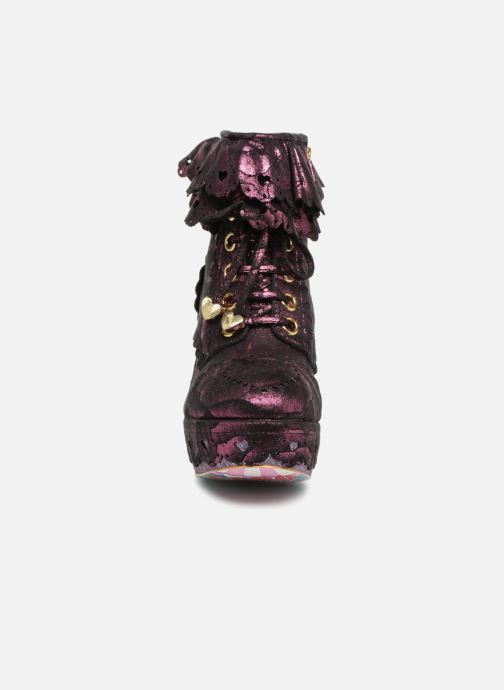 Bottines et boots Irregular Choice FRILLY KNICKERS Rose vue portées chaussures