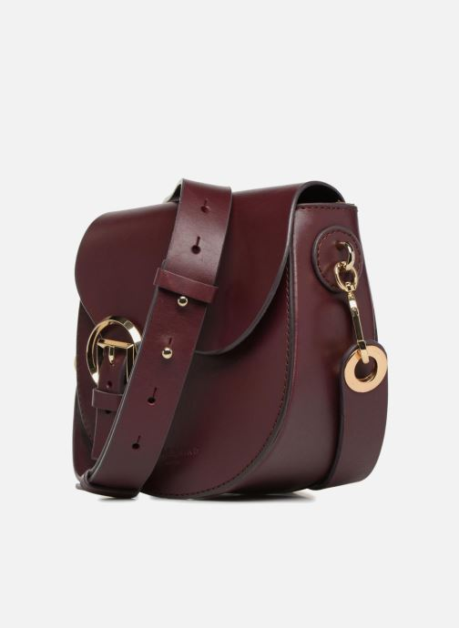 Sacs à main Liebeskind Berlin Round Daddy Crossbody Small Bordeaux vue portées chaussures