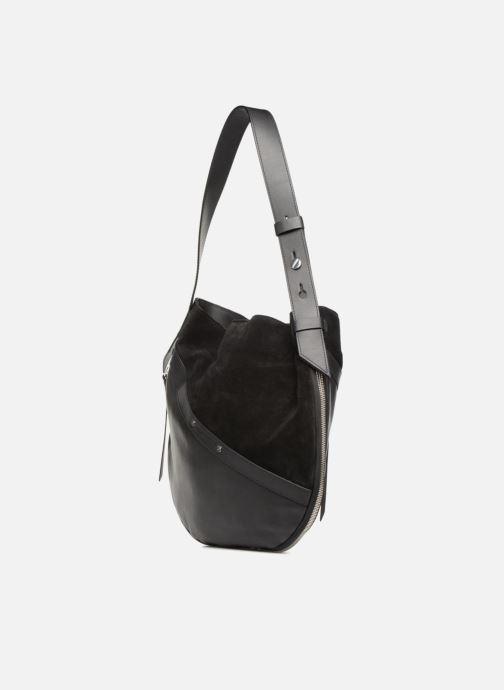 Sacs à main Liebeskind Berlin Helmet Hobo M Noir vue portées chaussures
