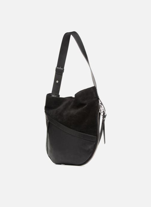 Handtaschen Liebeskind Berlin Helmet Hobo M schwarz ansicht von rechts