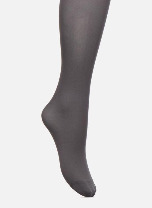 Socken & Strumpfhosen Dim Collant OPAQUE VELOUTE grau schuhe getragen