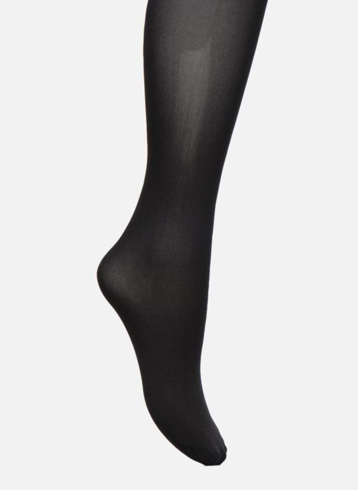 Chaussettes et collants Dim Collant STYLE EFFET CUISSARDE UNIE Noir vue portées chaussures