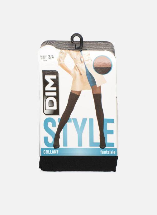 Chaussettes et collants Dim Collant STYLE EFFET CUISSARDE UNIE Noir vue  détail paire a1b080fc115
