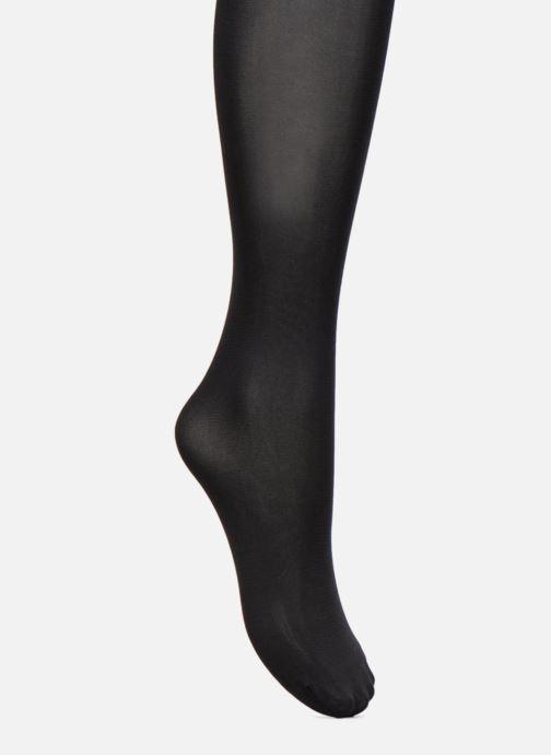 Chaussettes et collants Dim Collant STYLE EFFET CUISSARDE POIS Noir vue portées chaussures