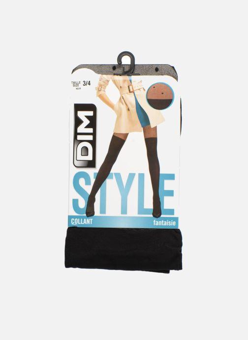 Chaussettes et collants Dim Collant STYLE EFFET CUISSARDE POIS Noir vue détail/paire