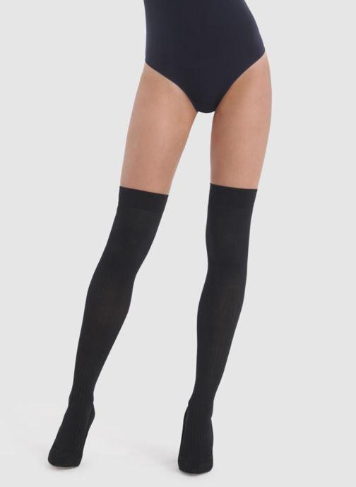 Chaussettes et collants Dim Chaussettes Hautes DIM X BA&SH COTTES DE MAILLE Noir vue portées chaussures