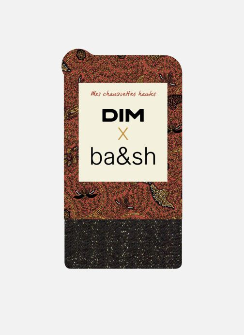 Sokken en panty's Dim Chaussettes Hautes DIM X BA&SH COTTES DE MAILLE Zwart detail