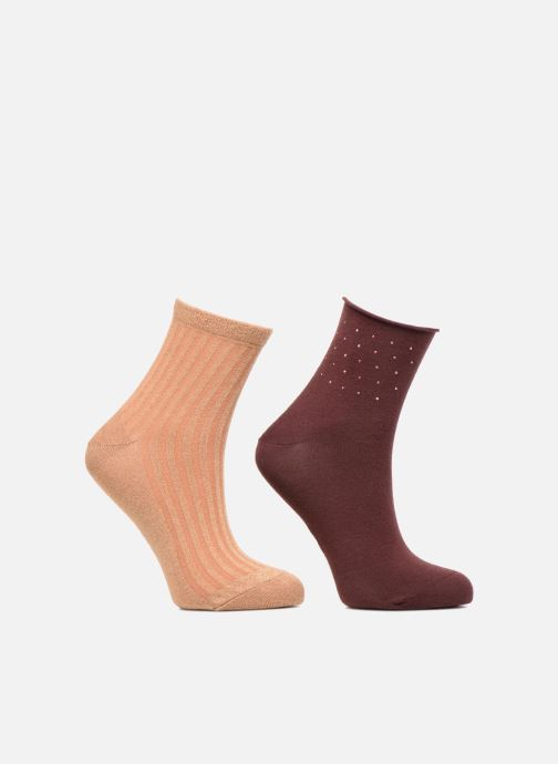 Sokken en panty's Dim Socquette Coton Style CONFETTI & LUREX Zwart detail
