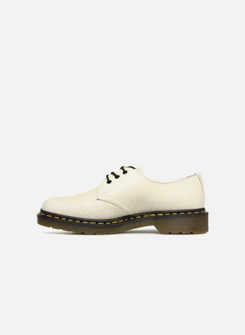 Snörade skor Dr. Martens 1461 F Vit bild från framsidan