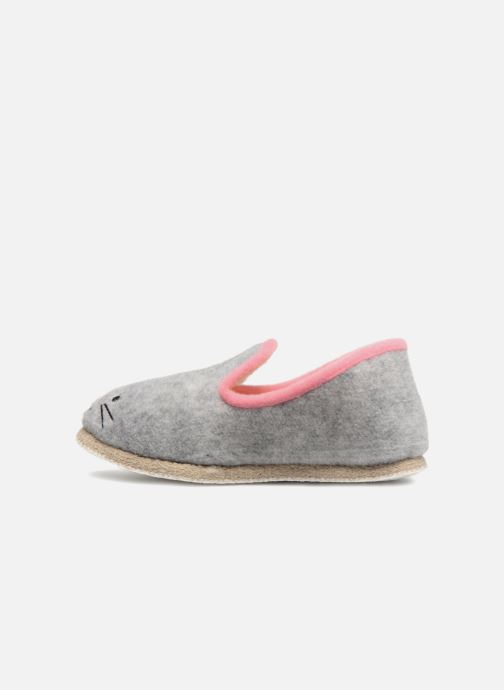 Slippers Rondinaud Carbini Grey front view